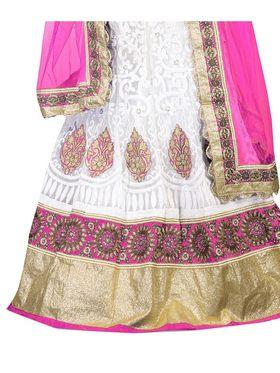 Viva N Diva Embroidered Semi Stitched Net Lehenga -10519-Ami