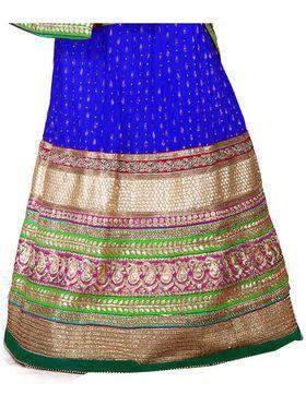 Viva N Diva Embroidered Semi Stitched Net Lehenga -10534-Ami