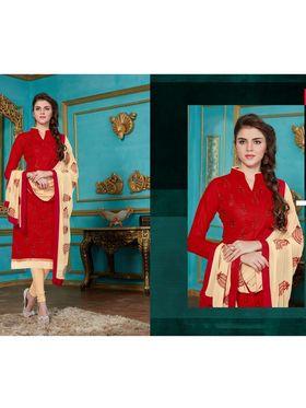 Viva N Diva Emroidered Unstiched Cotton Dress Material_11127-Elifa