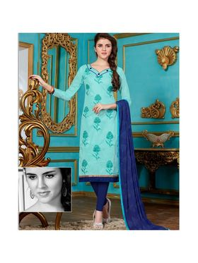 Viva N Diva Emroidered Unstiched Cotton Dress Material_11130-Elifa
