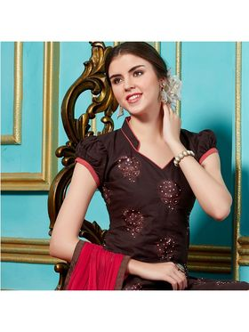 Viva N Diva Emroidered Unstiched Cotton Dress Material_11134-Elifa