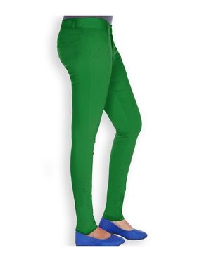 Uber Urban Cotton Lycra Solid Pant - Green_AURA-CP-GRN