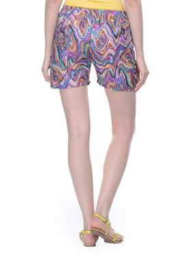 Lavennder Shantoon Printed Ladies Short - Multi_LW-5138