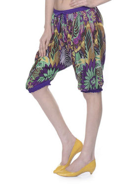 Lavennder Cotton Printed Ladies Capri Short - Multi_LW-5165