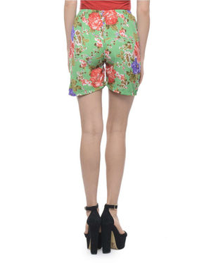 Lavennder Cotton Printed Ladies Short - Multi_LW-5168
