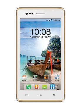Intex Aqua 4.5e Smart Mobile Phone - White & Champagne