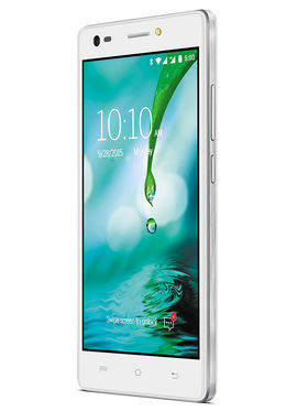 Lava V2s 5 Inch HD IPS Display Quad Core 4G Smart Phone (RAM : 2GB ROM : 8GB) - Icy White