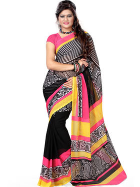 Combo of 5 Adah Fashions Georgette Printed Saree -ad03