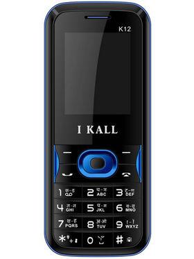 I Kall K12 Dual Sim Mobile Phone - Black & Blue