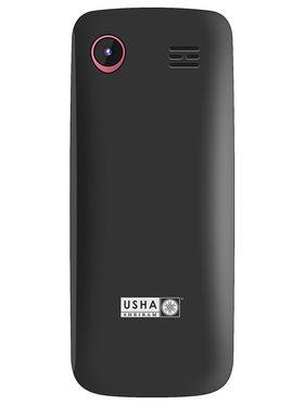 Usha Shriram A2 Feature phone (Black and Red)