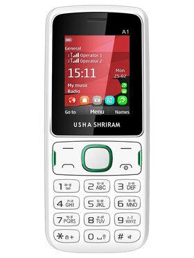 Usha Shriram A1 Feature Phone(Dual Sim,White)