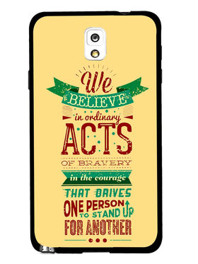 Snooky Designer Print Hard Back Case Cover For Samsung Galaxy Note 3 - Cream