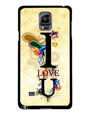 Snooky Designer Print Hard Back Case Cover For Samsung Galaxy Note 4 - Cream