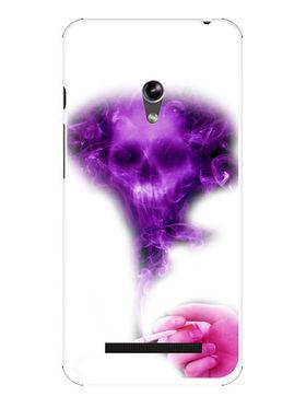 Snooky Designer Print Hard Back Case Cover For Asus Zenfone 4.5 - Purple