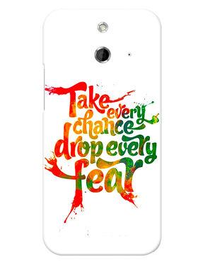 Snooky Designer Print Hard Back Case Cover For HTC One E8 - White