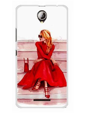 Snooky Designer Print Hard Back Case Cover For Lenovo A5000 - Red