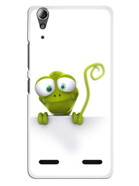Snooky Designer Print Hard Back Case Cover For Lenovo A6000 - Green