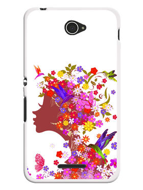 Snooky Designer Print Hard Back Case Cover For Sony Xperia E4 - Multicolour