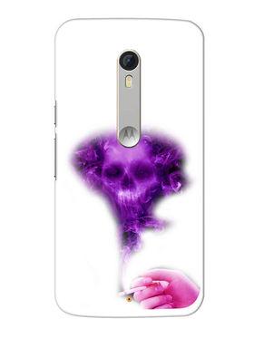 Snooky Designer Print Hard Back Case Cover For Motorola Moto X Play - Purple