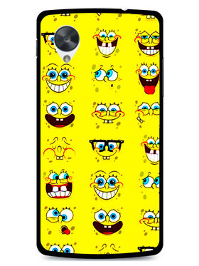 Snooky Designer Print Hard Back Case Cover For LG Google Nexus 5 - Yellow