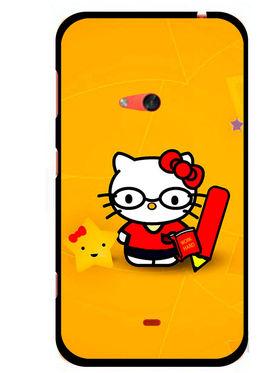 Snooky Designer Print Hard Back Case Cover For Nokia Lumia 625 - Yellow