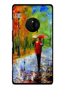 Snooky Designer Print Hard Back Case Cover For Nokia Lumia 830 - Multicolour