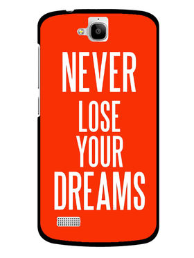 Snooky Designer Print Hard Back Case Cover For Huawei Honor Holly - Red