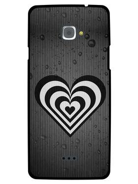 Snooky Designer Print Hard Back Case Cover For InFocus M530 - Grey