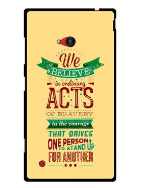Snooky Designer Print Hard Back Case Cover For Nokia Lumia 720 - Cream
