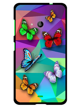 Snooky Designer Print Hard Back Case Cover For Microsoft Lumia 535 - Multicolour