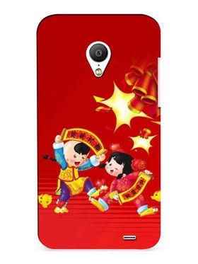 Snooky Digital Print Hard Back Case Cover For Meizu MX3 - Mehroon