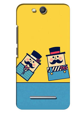Snooky Digital Print Hard Back Case Cover For Micromax Canvas Juice 3 Q392 - Yellow