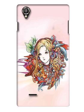Snooky Digital Print Hard Back Case Cover For Lava Iris 800 - Multicolour