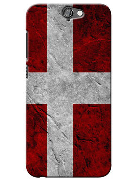 Snooky Digital Print Hard Back Case Cover For HTC One A9 - Red