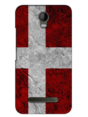 Snooky Digital Print Hard Back Case Cover For Micromax Bolt Q335 - Red