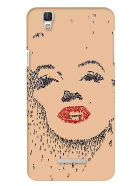 Snooky Digital Print Hard Back Case Cover For Coolpad Dazen F2 - Brown