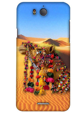 Snooky Digital Print Hard Back Case Cover For InFocus M530 - Yellow