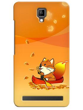 Snooky Digital Print Hard Back Case Cover For Micromax Bolt Q331 - Orange