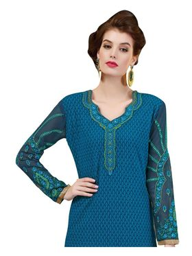 Viva N Diva Embroidered Georgette Semi Stitched Suit -vnd06