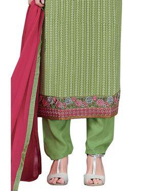 Viva N Diva Embroidered Georgette Semi Stitched Suit -vnd08