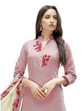 Viva N Diva Printed Satin Cotton Semi Stitched Suit -vnd16