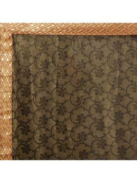 Designersareez Printed Net and Brasso Saree -2007
