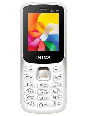 Intex Candy Dual Sim Phone - White & Gold