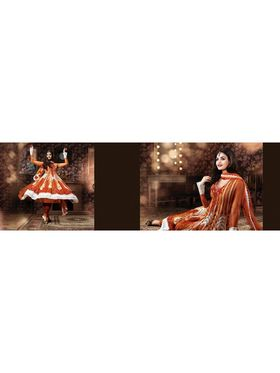 Viva N Diva Embroidered Faux Georgette Semi Stitched Salwar Suit -6105-Shiva