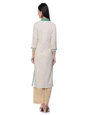 Lavennder Khadi Hand Blocked Kurti -623556