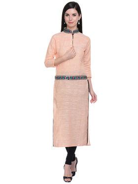 Lavennder Khadi Solid Kurti -623560