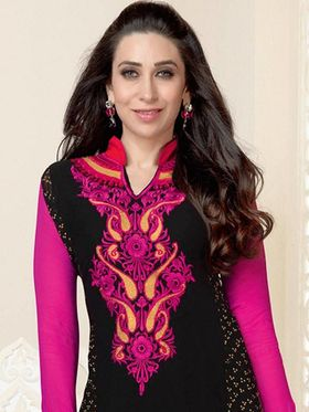 Adah Fashions Embroidered Georgette Semi-Stitched Suit 742-5152