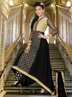 Adah Fashions Embroidered Faux Georgette Semi-Stitched Suit 749-1003