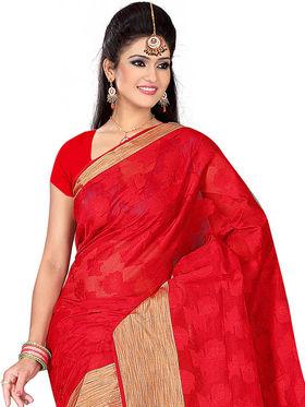 Adah Fashions Red South Silk Saree -888-102