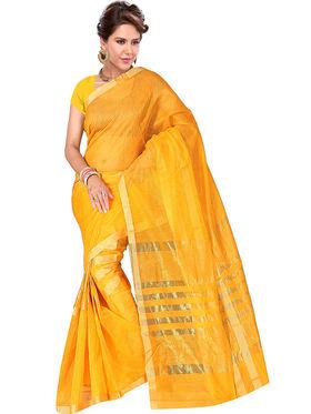 Adah Fashions Yellow South Silk Saree -888-119